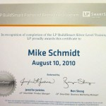 LP BuildSmart Silver Level Traning Certificate